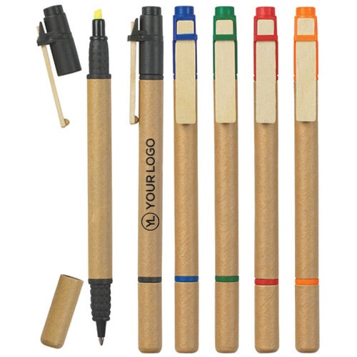 Dual Function Eco Friendly Pen Highlighter