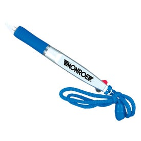Dual Ink Pen with Neck Lanyard for Your Company