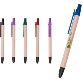 Duo Recycled Pen Stylus Imprinted with Your Logo