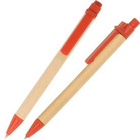 Custom Eco Green Paper Barrel Pen
