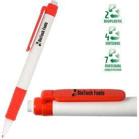 Eco Green Writer Pen Imprinted with Your Logo
