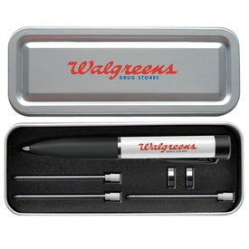 Electronic Body Surface Area Metal Pen with Your Slogan