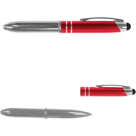Printed Executive 3 in 1 Metal Pen Stylus with LED