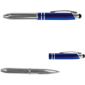 Executive 3 in 1 Metal Pen Stylus with LED with Your Logo