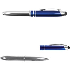 Executive 3 in 1 Metal Pen Stylus with LED Giveaways