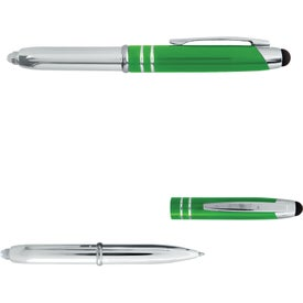 Executive 3 in 1 Metal Pen Stylus with LED