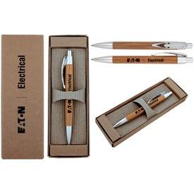 Printed Executive Bamboo Pen