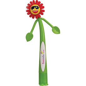 Flower Bend-A-Pen (Digitally Printed)