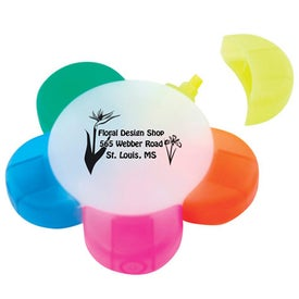 Plastic Flower Highlighters