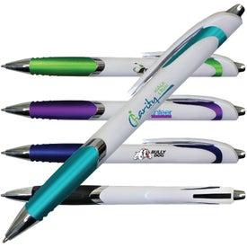 White Crest Grip Pen (Full Color Digital)