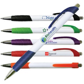 White Merit Grip Pen (Full Color Digital)