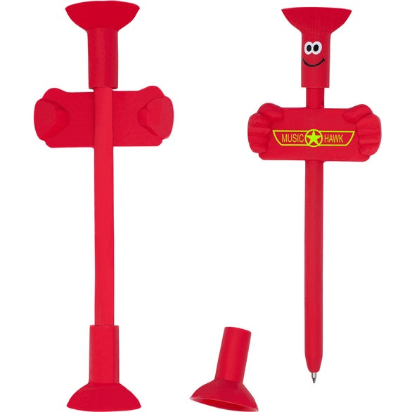 Red Goofy Bendy Pen and Phone Stand