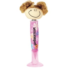 Goofy Pig-Tailed Girl Pen for Promotion