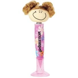 Goofy Pig-Tailed Girl Pen for Promotion