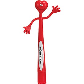 Heart Bend-A-Pen Imprinted with Your Logo