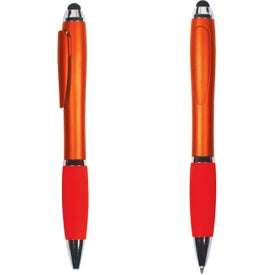 Imprinted Hidden Clip Duo Pen Stylus