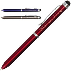 iWrite Executive Stainless Pen with Stylus Imprinted with Your Logo