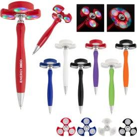 Light Up Spinner Pen