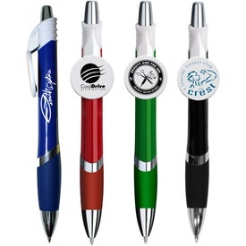 Marquee Circle Clip Pen (Full Color)
