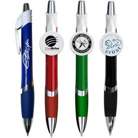 Marquee Circle Clip Pen