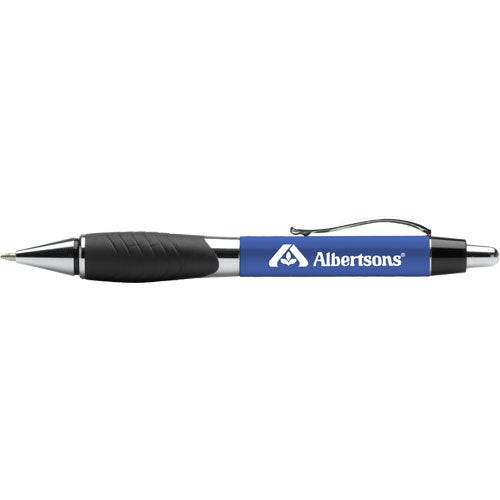 Metal Ballpoint Pen With Contoured Grip