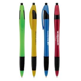 Branded Metallic Dart Pen with Grip