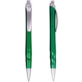 Company Metallic Texture Click Pen