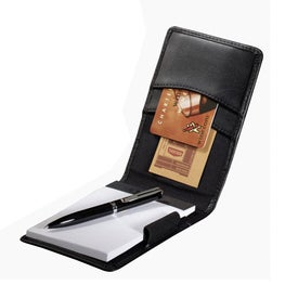 Imprinted Millennium Leather Personal Jotter