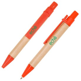 Imprinted Mini Eco Paper Barrel Pen
