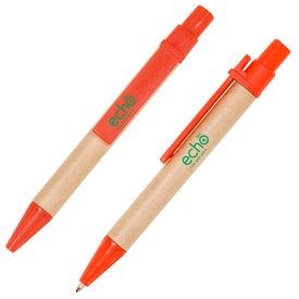 Imprinted Mini Eco Paper Barrel Pen
