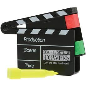Monogrammed Movie Slate Highlighter