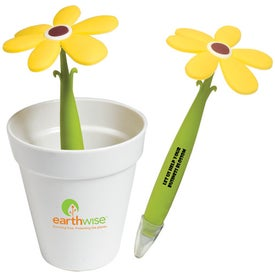 Potted Pen with Your Slogan
