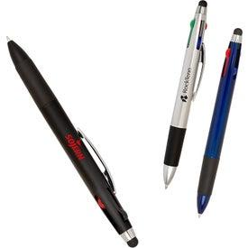 Quad Color-Write Pen with Stylus