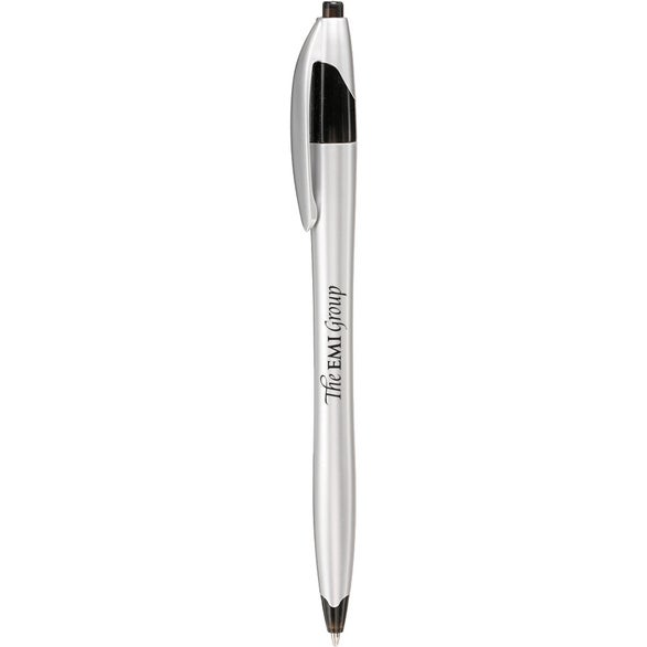 Silver / Black Retractable Pen