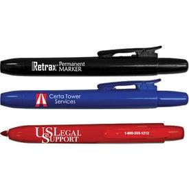 Retrax Retractable Permanent Marker