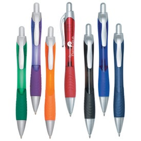 Rio Ball Point Pen with Contoured Rubber Grip for Advertising