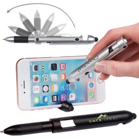 Robot Pen with Stylus Phone Holder