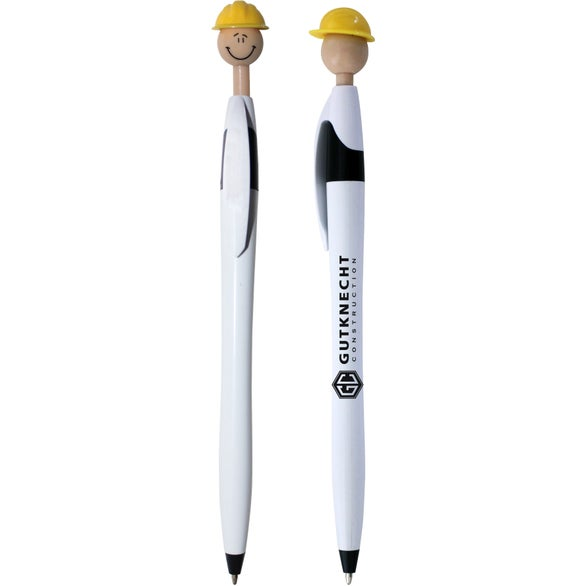 White Safety Smilez Pen