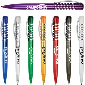 Shock Spring Pen with Translucent Barrel