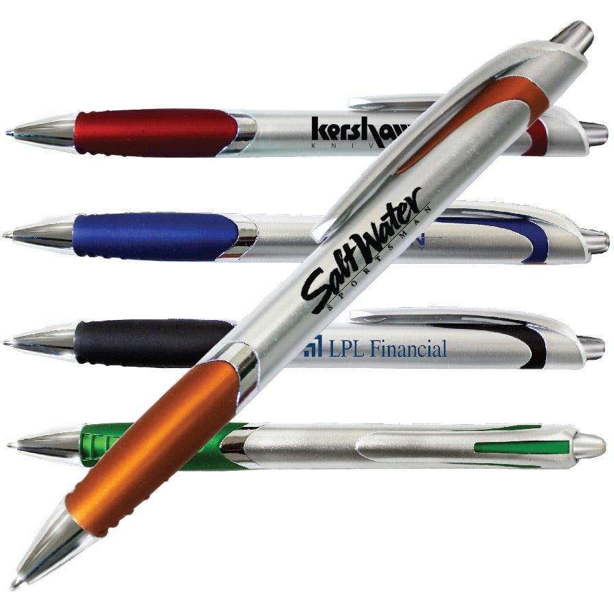 Silver Crest Grip Pen