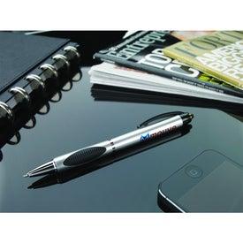 Monogrammed Silver Spot Pen
