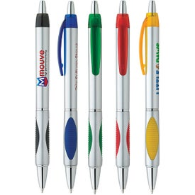 Silver Spot Pen with Your Slogan