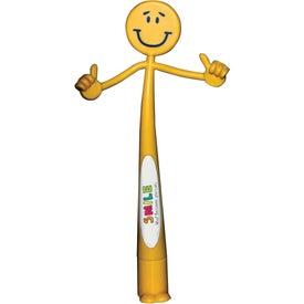 Smiley Bend-A-Pen (Full Color)