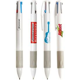 Monogrammed Soledad Tri-Color Pen with Stylus