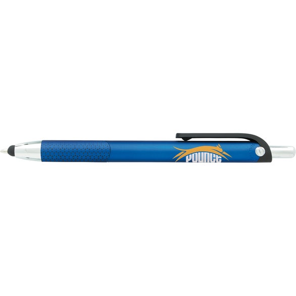 Blue Souvenir Motive Stylus Pen