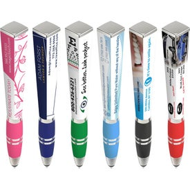 Squared Ad Pens with Stylus