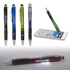 Light Up Your Logo Stylus Pen with Matte Finish