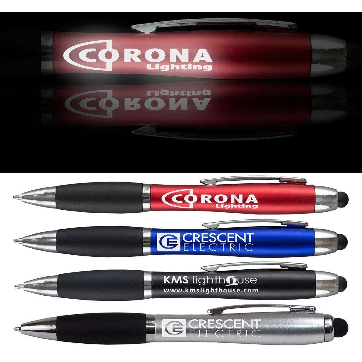 The Corona Light Up Stylus Pen