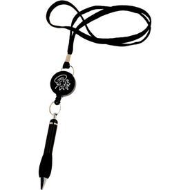 The Soft Grip Metal Pen with Lanyard and Retractor for Your Church