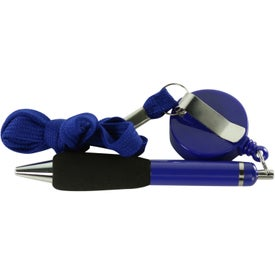Personalized The Soft Grip Metal Pen with Lanyard and Retractor